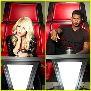 shakira-usher-the-voice-promo-portraits